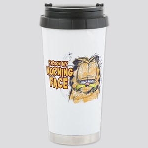 PARDON MY MORNING FACE Stainless Steel Travel Mug