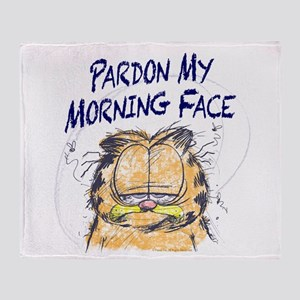 PARDON MY MORNING FACE Throw Blanket