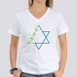 Tree And Star Women's V-Neck T-Shirt