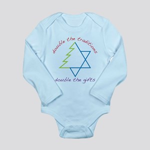 Double The Tradititons Long Sleeve Infant Bodysuit