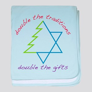 Double The Tradititons baby blanket
