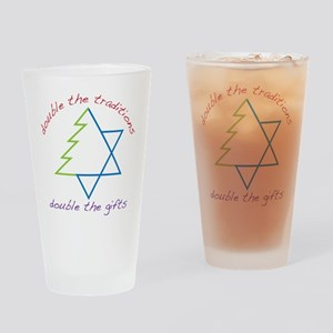 Double The Tradititons Drinking Glass