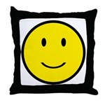Happy Face Smiley Throw Pillow