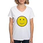 Happy Face Smiley Women's V-Neck T-Shirt