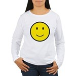 Happy Face Smiley Women's Long Sleeve T-Shirt