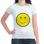 Happy Face Smiley Jr. Ringer T-Shirt