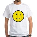 Happy Face Smiley White T-Shirt