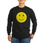Happy Face Smiley Long Sleeve Dark T-Shirt