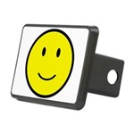 Happy Face Smiley Rectangular Hitch Cover