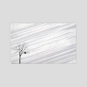 Winter Tree White 3'x5' Area Rug