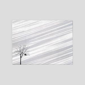 Winter Tree White 5'x7'Area Rug