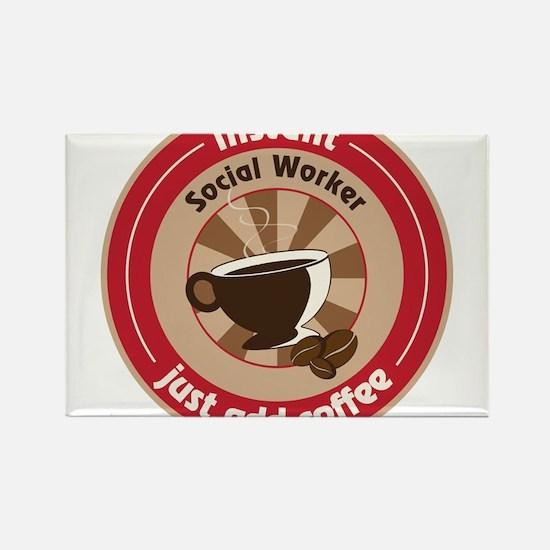 Social Worker Rectangle Magnet
