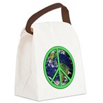 Earth Peace Symbol Canvas Lunch Bag