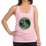 Earth Peace Symbol Racerback Tank Top