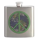 Earth Peace Symbol Flask