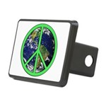Earth Peace Symbol Rectangular Hitch Cover