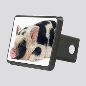 Micro pig chilling out Rectangular Hitch Cover