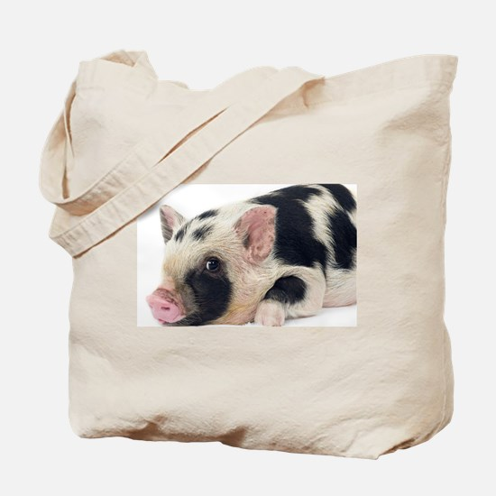 Micro pig chilling out Tote Bag