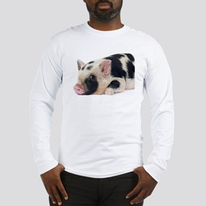 Micro pig chilling out Long Sleeve T-Shirt