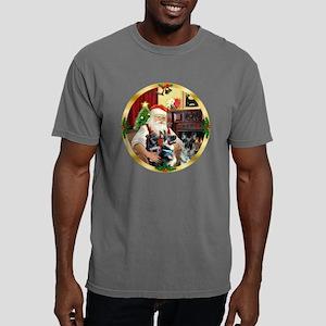 W-Santa1-GShep12-15-pup. Mens Comfort Colors Shirt