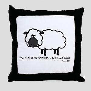 Lord's my shepherd Throw Pillow