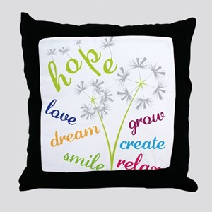 Dandelion Hope Throw Pillow