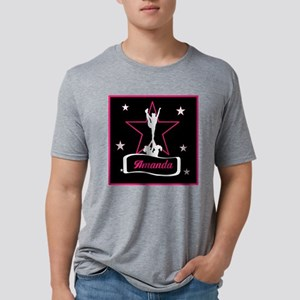 Pink and Black Cheerleader Mens Tri-blend T-Shirt