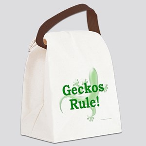 Geckos Rule Canvas Lunch Bag