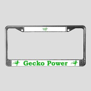 Geckos Rule License Plate Frame