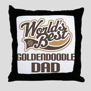 Goldendoodle Dog Dad Throw Pillow