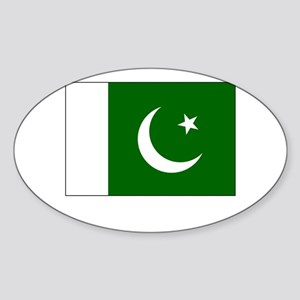Pakistan Flag Picture Oval Sticker