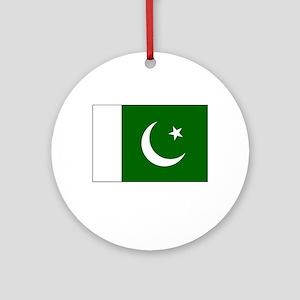 Pakistan Flag Picture Ornament (Round)