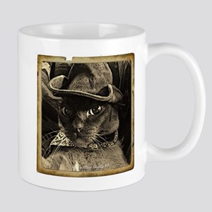 Cowboy Cat, 4, sepia Mug