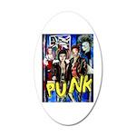Punk rock music alternative art with graffiti 35x2