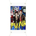 Punk rock music alternative art with graffiti Bann
