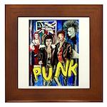 Punk rock music alternative art with graffiti Fram