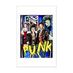 Punk rock music alternative art with graffiti Mini
