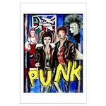 Punk rock music alternative art with graffiti Larg