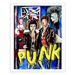 Punk rock music alternative art with graffiti Smal
