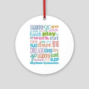 Rhythmic Gymnast Ornament (Round)