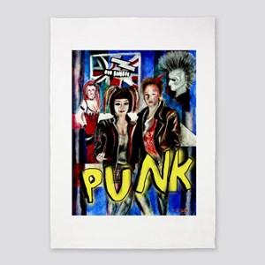 Punk rock music alternative art with graffiti 5'x7