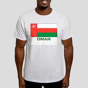 Oman Flag Gear Ash Grey T-Shirt
