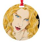 Vampire Vixen Round Ornament