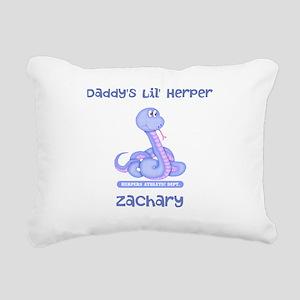 Lil Herper Boy Snake Rectangular Canvas Pillow