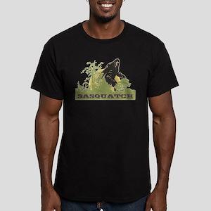 Sasquatch Men's Fitted T-Shirt (dark)