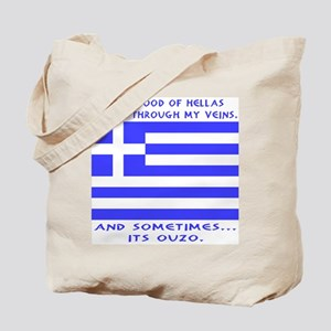 Blood of Hellas and Ouzo Tote Bag