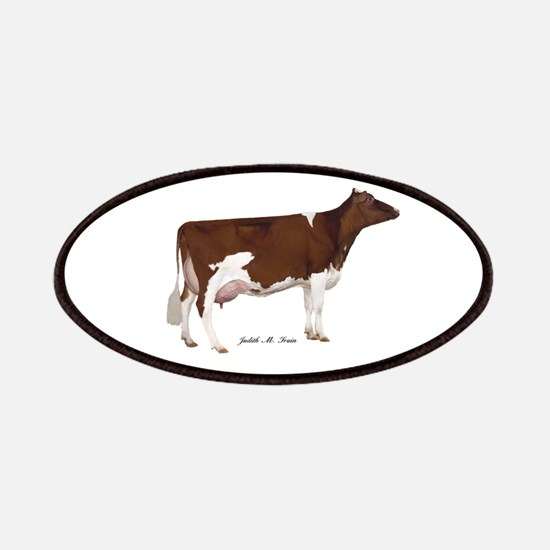 Red and White Holstein Cow Patches