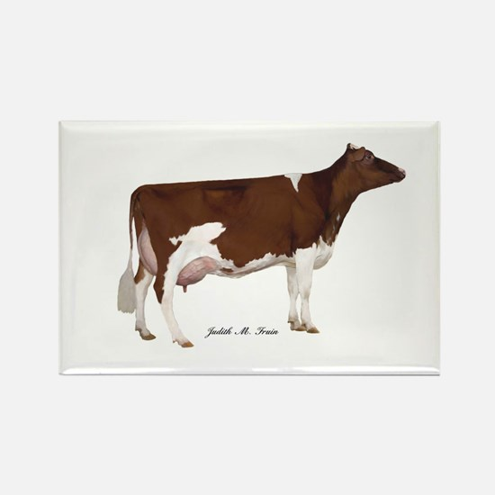 Red and White Holstein Cow Rectangle Magnet