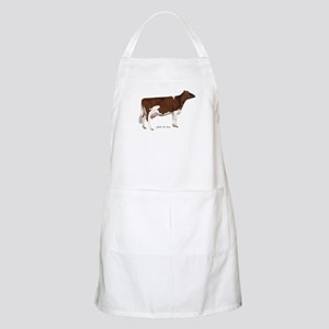 Red and White Holstein Cow Apron