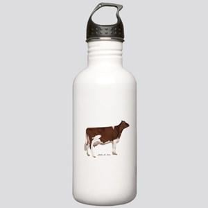 Red and White Holstein Cow Stainless Water Bottle